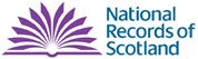 Image shows the logo of the National Records of Scotland