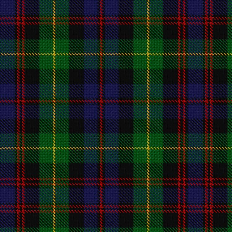 Tartan image: Black Watch Plaid of Pipers